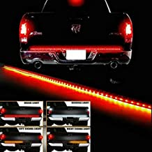 "u-Box Waterproof 60"" Yellow/Red/White Tailgate LED Strip Light Bar Truck Reverse Brake Turn Signal Tail Lights for Ford GMC Chevy Dodge Toyota Nissan Honda Truck SUV 4x4 Dodge Ram"
