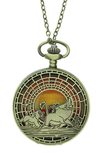 Disney The Lion King Sunset Pocket Watch Necklace