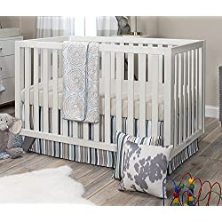 Glenna Jean Boy's Luna Quilt with Sheet and Crib Skirt, Blue/Taupe/Grey/Tan