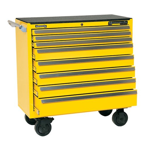 Kennedy Manufacturing 3900MPYW 39'' 8-Drawer Maintenance Pro Roller Cabinet, Industrial Yellow by Kennedy Manufacturing