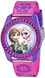 Watches : Disney's Frozen Kids' Digital Watch with Elsa and Anna on the Dial, Purple Casing, Comfortable Pink Strap, Easy to Buckle, Safe for Children - Model: FZN3598