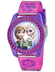 Disney Kids\' FZN3598 Frozen Anna and Elsa Digital Watch with...