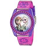 Disney Kids' FZN3598 Frozen Anna and Elsa Digital Watch with Purple Snowflake Band