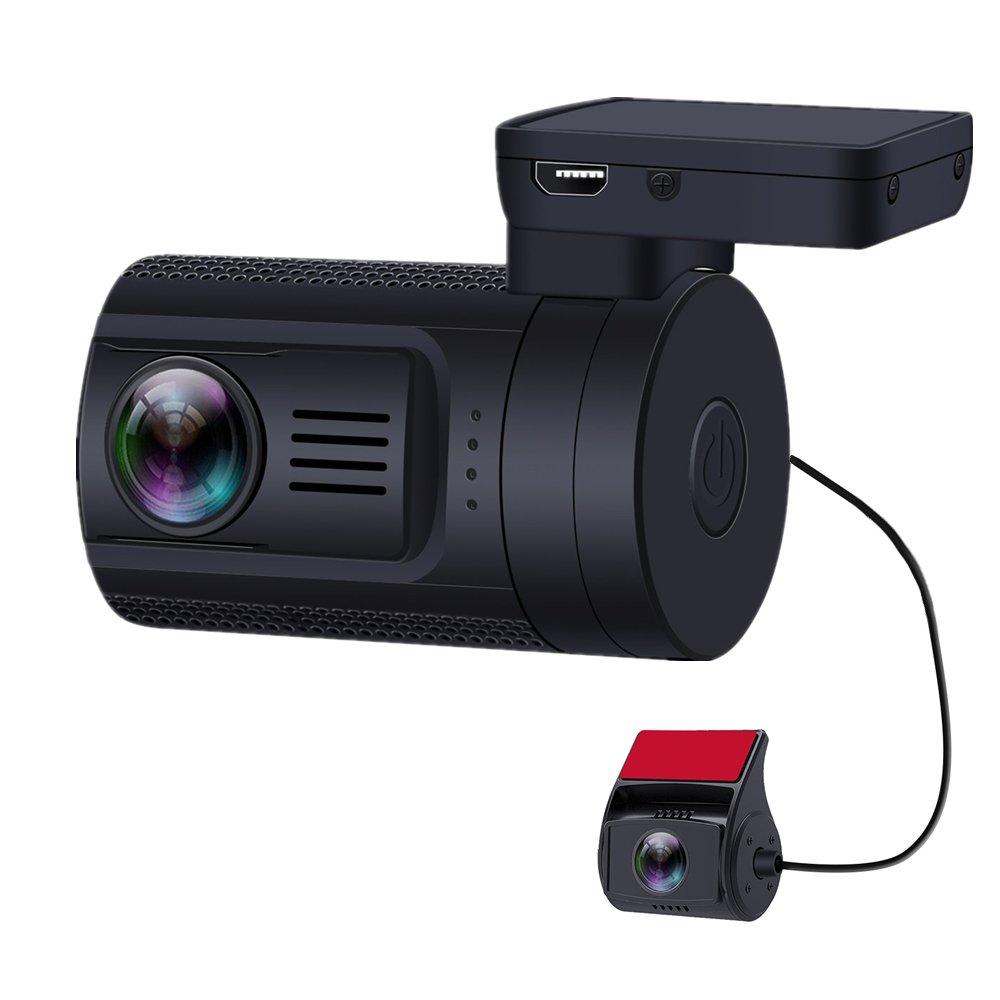 Blueskysea Mini 0906 GPS Dual Dash Cam Car Camera Capacitor with 1080P Rear View Backup Camera SONY IMX291 IMX323 Sensor G-Sensor Parking Mode w/ Romote Control