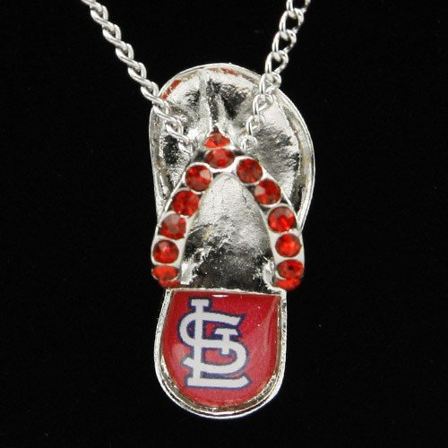 Cardinals Flip Flop - MLB St. Louis Cardinals Crystal Flip Flop Necklace