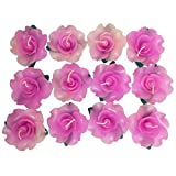 Wedding&spa Scented Rose-shaped Floating Candles Pink (pack of 12)
