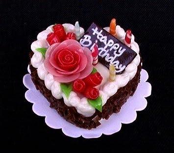 Amazoncom Mini Happy Birthday Heartshaped Chocolate Cake with