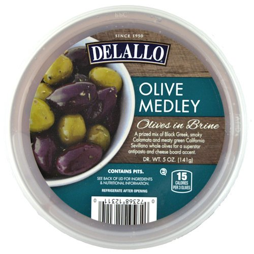 Olive Medley, 5 oz. (6 pack) Delallo Olives