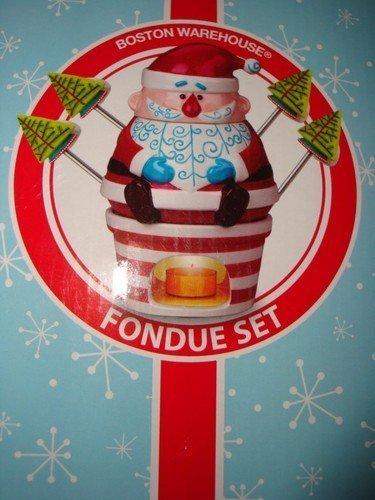 Boston Warehouse - Santa Claus - Fondue Set - 7 Pc Set by Boston Warehouse