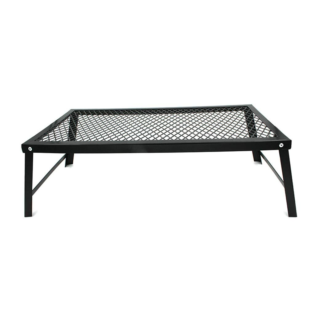 WANG XIN Outdoor Folding Picnic Table Barbecue Net Table Storage Rack Display Stand Refrigerator Rack Barbecue Rack Drain Rack Mini Low Table BBQ