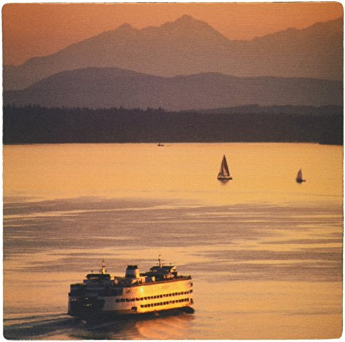 3dRose LLC 8 x 8 x 0.25 Inches Mouse Pad, Olympic Mountains, Ferry, Puget Sound, Washington Stephen Matera (mp_96822_1) - Puget Computer