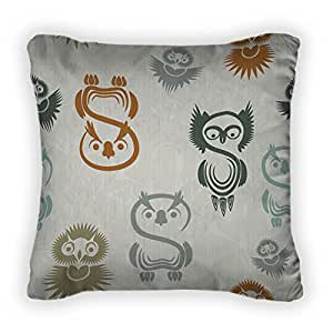 Gear New Pattern With Various Owls On A Throw Pillow,