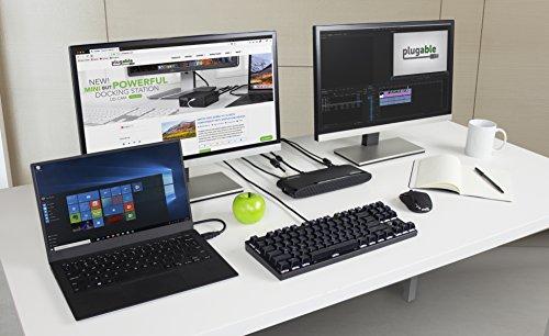 Plugable Usb 3 0 Dual Monitor Horizontal Docking Station