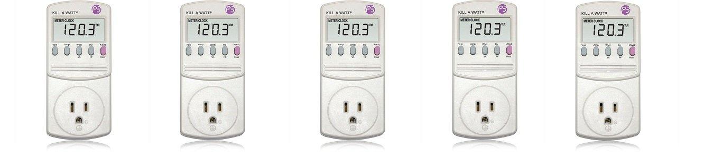P3 P4400 Kill A Watt Electricity Usage Monitor (5-(Pack))