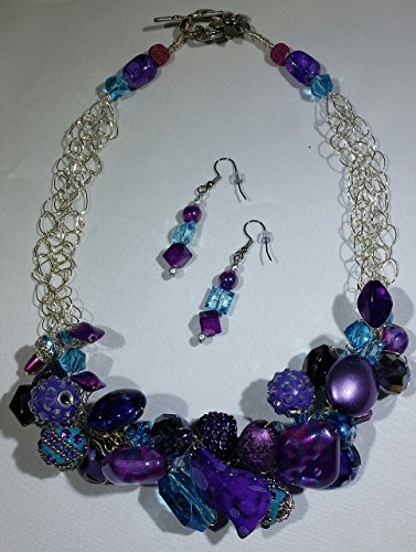 Winter Lights Crocheted Wire Necklace and Earrings