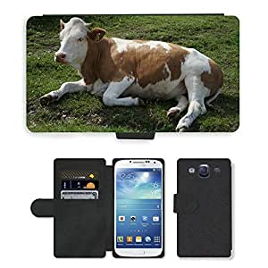 Hot Style Cell Phone Card Slot PU Leather Wallet Case // M00108081 Cow Animal Relaxed Alm Kampenwand // Samsung Galaxy S3 S III SIII i9300