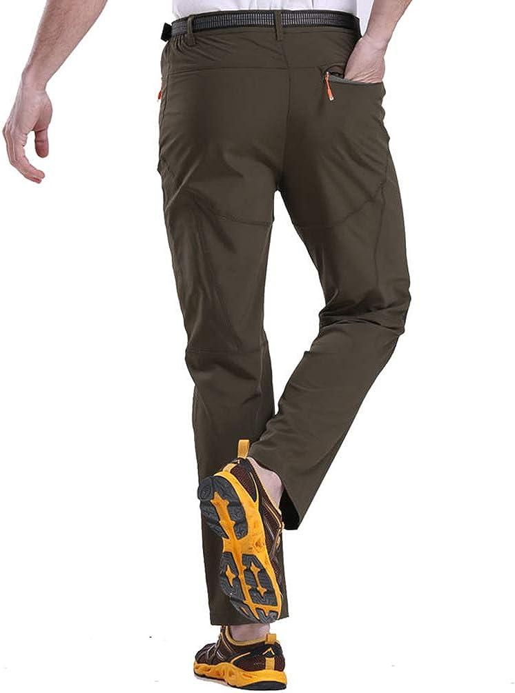 Haobing Adulti Pantaloni da Montagna Stretch Leggero Pantalone da Trekking Escursione Outdoor