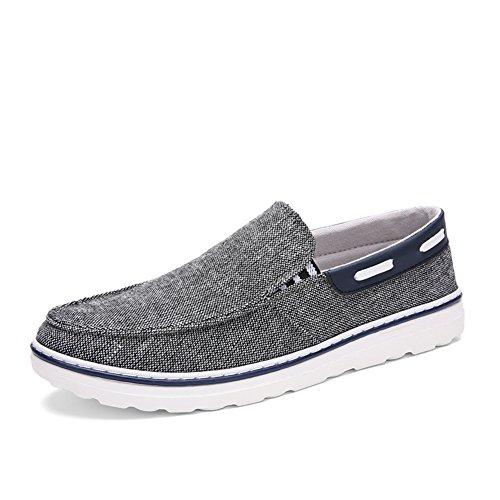 Zapatos casuales simples y de moda de verano/Pies antideslizantes bajo corte hombres zapatos de aire gris