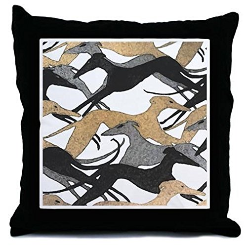 CafePress - Leaping Fresco Hound - Throw Pillow, Decorative Accent Pillow