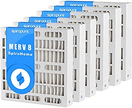 SpiroPure 20X22X1 MERV 11 Pleated Air Filters 6 Pack Made in USA