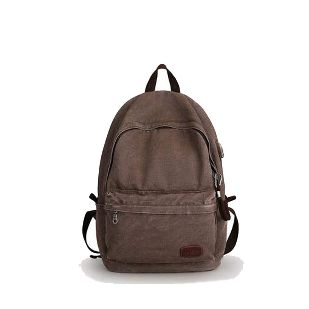 LargeCapacity Canvas Travel Big Backpack, Student Bag Outdoor Leisure Travel 15inch Computer Backpack (color   Retro Deep Coffee)