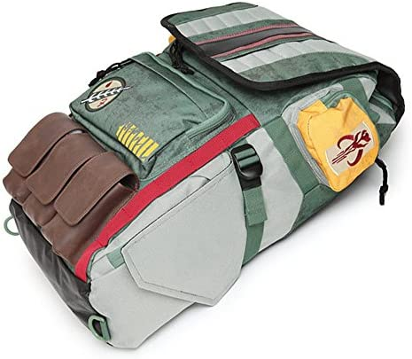 Star Wars Boba Fett Backpack Laptop Bag School Bag Travel Outdoor Bag