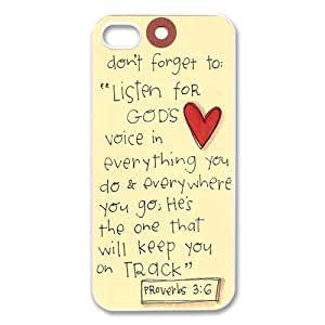 Protective Bible Verse Custom Iphone 5 Case Well-designed Hard Case Cover Protector For iPhone 5