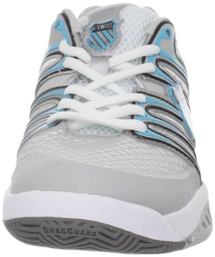 K-Swiss Bigshot, Damen Tennisschuhe weiß/azurblau