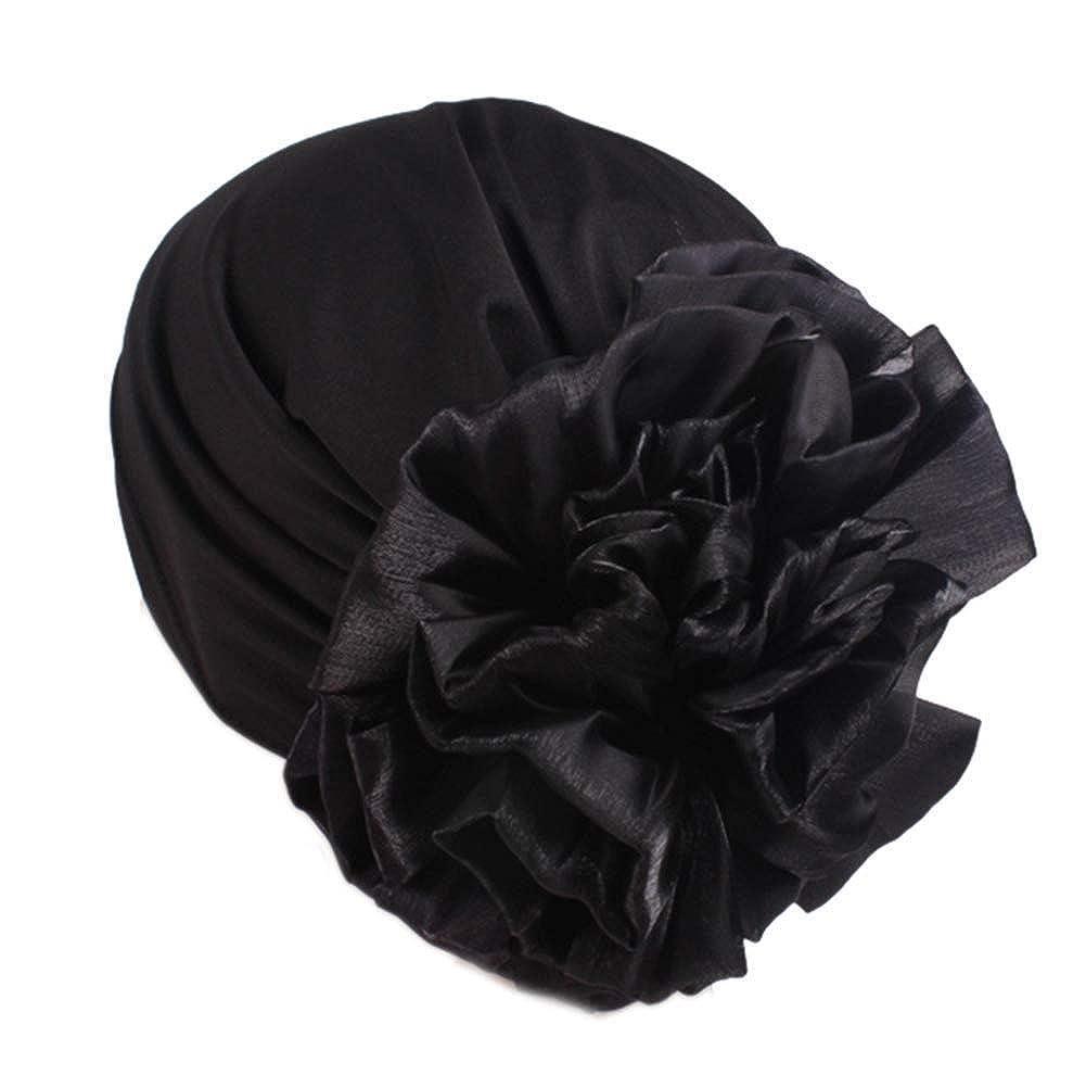Women Big Flower Elastic Beanie Head Wrap Chemo Cap Hat