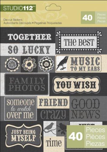 - K&Company Studio 112 Die-Cut Stickers, Sayings
