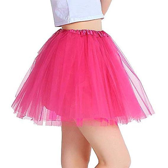 Vientiane Tutu Falda de Mujer Falda de Tul 80s, Vestido Enagua ...