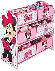 Disney Mimmi Pigg barn sovrum leksaksförvaringsenhet med 6 tunnor av HelloHome