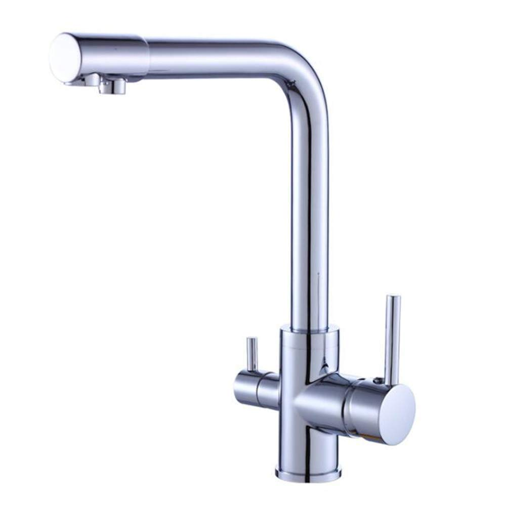 SNQKMLEP Kitchen Faucet, Copper Water Purification Kitchen Faucet, Hot and Cold Water Single Kitchen Faucet Bathroom (Color : -, Size : -)
