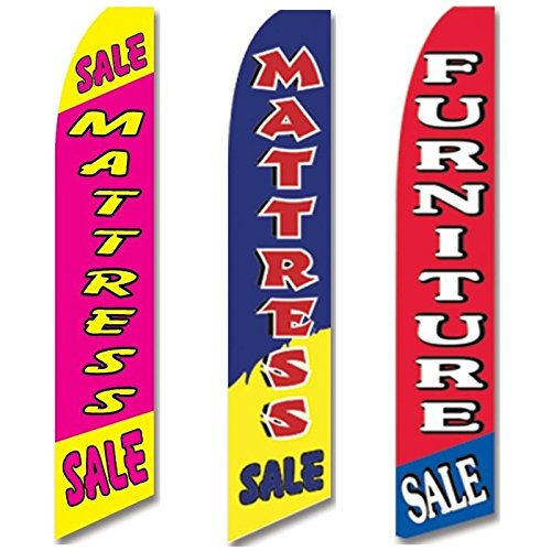 3 Swooper Flags Mattress Sale Home Furniture Open Welcome