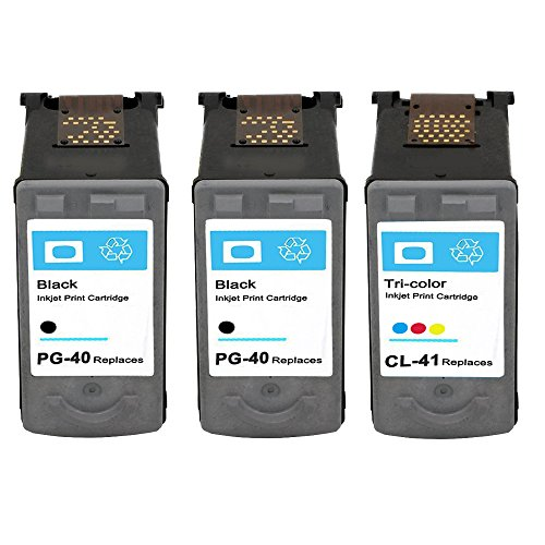 [ESTON 3Pack Remanufactured Ink Cartridge for Canon PG-40 and CL-41 Fit for Canon Pixma iP1600 iP1700 MP210 MP450 MP460 MP470 MX300 MX310 Printer] (Cl 41 Ink Refill)