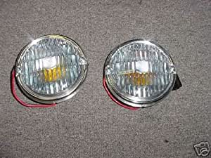 2 Jeep  CJ 5 7 8 Front Turn Signal Lenses Clear Parking Lamp Lens OEM Quality