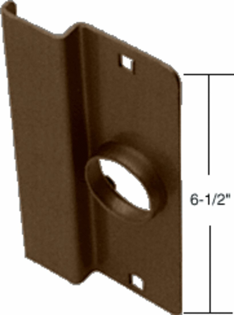 C.R. LAURENCE 8852DU CRL Dark Bronze 6-1/2'' Heavy Gauge Steel Latch Guard for Narrow Stile Flush Doors