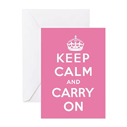 Amazon Cafepress Keep Calm And Carry On Greeting Card