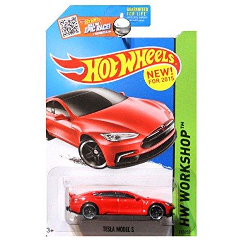 Hot Wheels, 2015 HW Workshop, Tesla Model S [Red] Die-Cast Vehicle #217/250 (Tesla Model Car compare prices)
