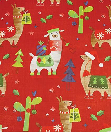 Paper Gift Wrapping Flat (Falala Llama Holiday Gift Wrapping Paper Flat Sheet - 24