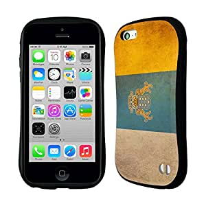 Head Case Designs Canary Islands Canarian Vintage Flags Hybrid Gel Back Case for Apple iPhone 5c