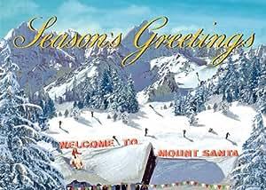 Mount Santa Pack de 5 tarjetas de Navidad grande por Max Hernn