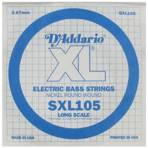 D'Addario Sngl Bass Xl 105 Dbl Ball End