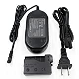 ACK-E8 AC Power Adapter Supply Kit Partstec DR-E8 DC Coupler Camera Charger for Canon EOS Rebel T5i T4i T3i T2i Kiss X6 Kiss X5 Kiss X4 700D 650D 600D 550D (Canon LP-E8 Battery Replacement).