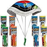 Regent (8 Pack) Tangle Free Plastic Army Man Sky Diving Parachute Toys Kids Play