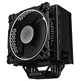 Jonsbo CR-201 4 Heatpipe Silent Dual Ball Bearing CPU Cooler With 120mm LED Fan For INTEL LGA 775 / 115X and AMD Full Platforms W/ AM4 Support -White