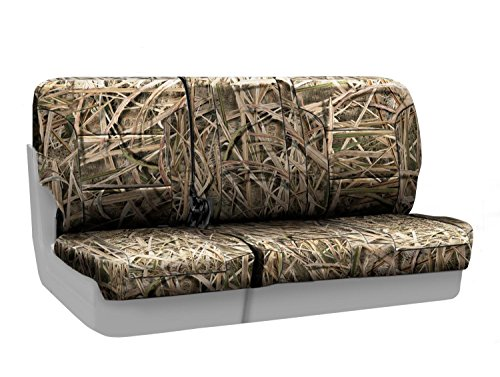 Coverking Front 60/40 Bench Custom Fit Seat Cover for Select Toyota T100 Models - Neosupreme (Mossy Oak Shadow Grass Camo Solid) (Shadow Bench Front)