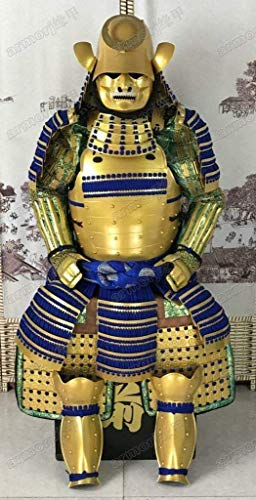 (Japanese Wearable Rüstung Samurai Armor Golden Suaka Nuri Yoroi Blue Laces O36)