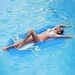 Wakects-Gonfiabile-Galleggiante-da-Piscina-Anelli-Airbeds-Giant-Raft-Piscina-Galleggiante-Lettino-Acqua-Giocattolo-Sportivo-da-Spiaggia-170-80-20-cm