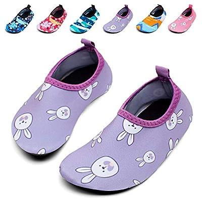 Giotto Kids Swim Water Shoes Quick Dry Non-Slip for Boys & Girls, G015E-Purple, 30-31